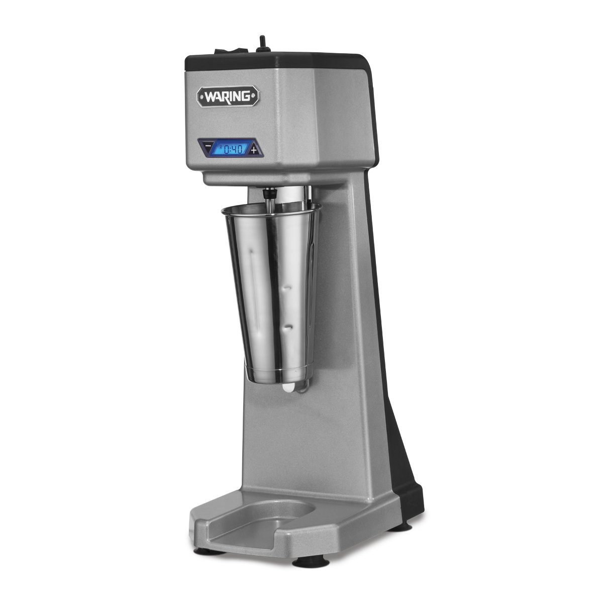 Waring Commercial WDM120T Single Head Drink Mixer with Timer, Silver