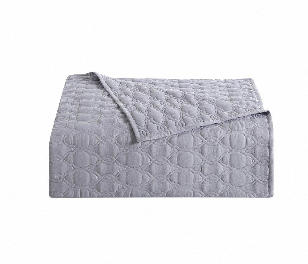 8e74a19a99 Amazon.com  Bourina Reversible Quilt Coverlet Set Queen - Microfiber  Lightweight Bedspread 3-Piece Quilt Set