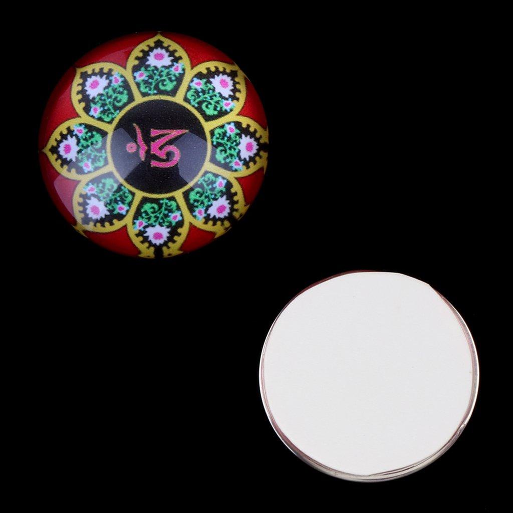Yunso 10/pcs Fantaisie Dos plat cabochons en verre d/ômes mixtes Cameo Patch Fit cabochons pour plateaux de pendentif Bijoux 20/mm