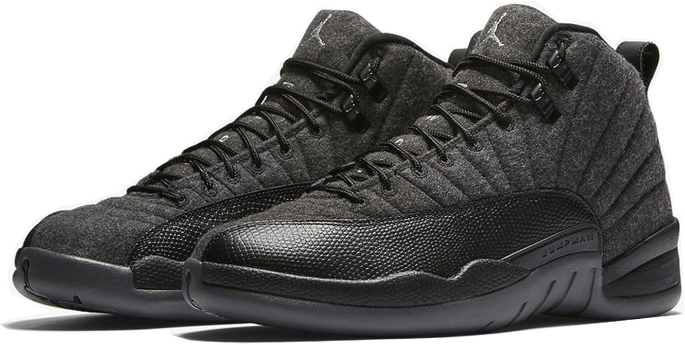 Air Jordan 12 Wool Dark-Grey/Metallic