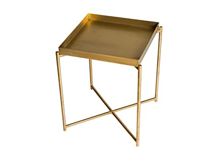 Gillmorespace Square Tray Top Side Table Brass Tray Brass