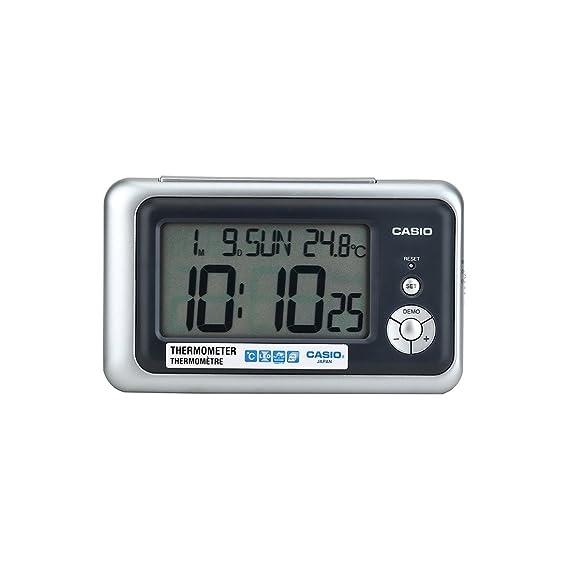 CASIO 10271 DQ-748-8D - Reloj Despertador digital gris: Amazon.es: Relojes