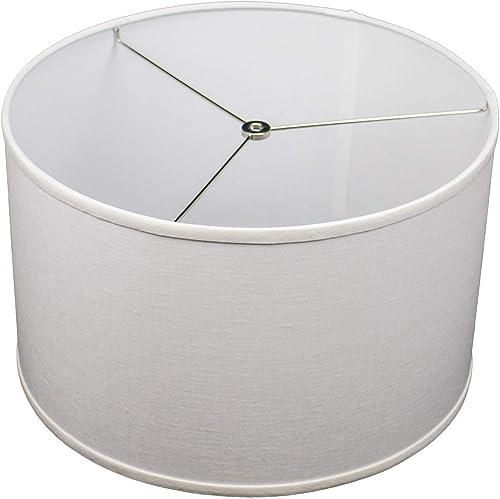 FenchelShades.com 16 Top Diameter x 16 Bottom Diameter 10 Height Lampshade USA Made Designer Off White