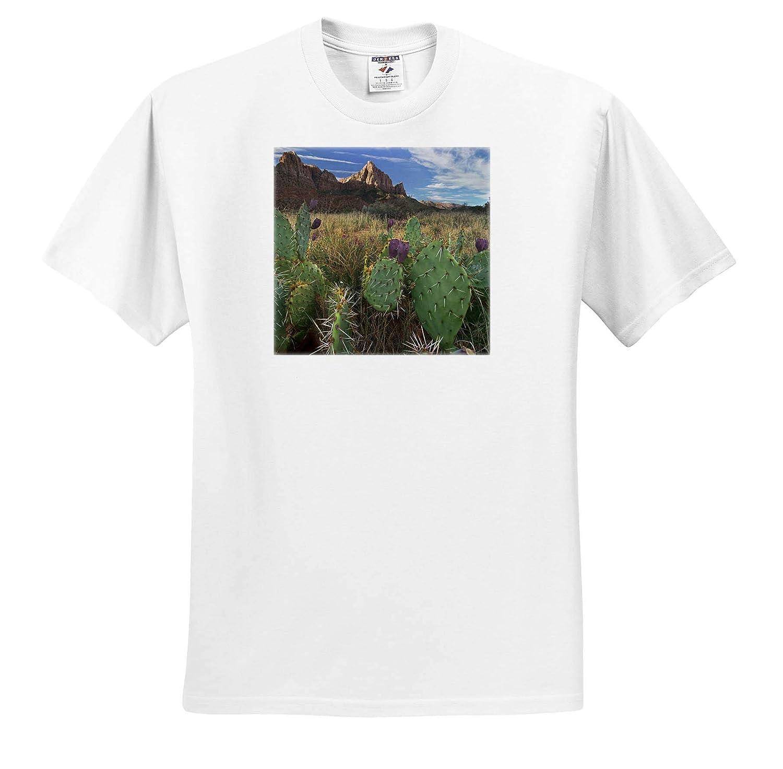 Utah Prickly pear at Zion National Park 3dRose Danita Delimont ts/_315079 Utah Adult T-Shirt XL