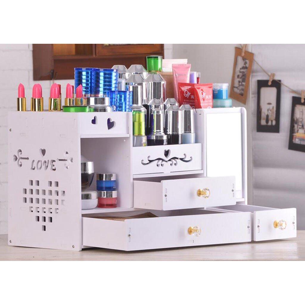Kosmetiktabletts Mit Spiegel Kosmetik Aufbewahrungsbox Skin Care Regal Schublade Typ Kosmetiktasche Rack