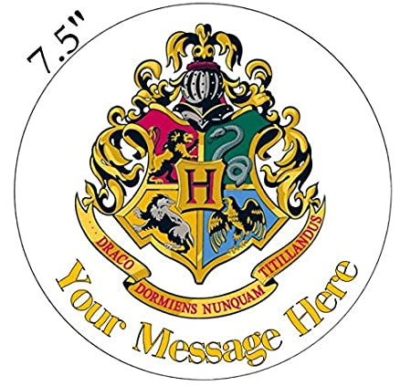 Harry Potter Hogwarts House Logo Inspired Edible Icing Cake Topper Precut    Personalise At The (