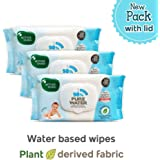 Mother Sparsh 98% Water Base Wipes I Plant derived Fabric I mild Scented I 80 Pcs/Pack - Pack of 3