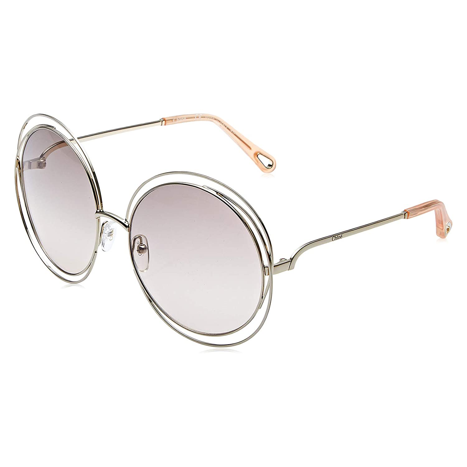 9db60a06ac Amazon.com  Chloe CE114SD 724 Gold Peach Carlina Round Sunglasses Lens  Category 1 Size 58  Chloe  Clothing