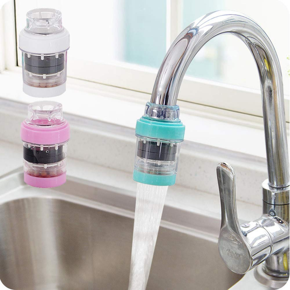 Mini Filtre à Eau de Robinet Purificateur d'eau de Robinet Purificateur d'eau Robinet de Cuisine pour Filtre à Eau avec élément filtrant Propre purificateur d'cartouche de Filtre (3PCS)