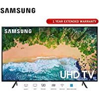 Samsung 58 NU7100 UHD 4K HDR LED Smart TV 2018 Model (UN58NU7100FXZA) with 1 Year Extended Warranty