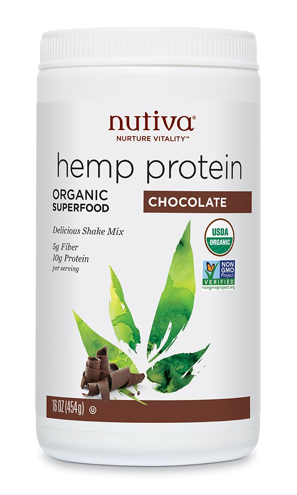 Nutiva Organic, Cold-Processed Hemp Protein, Chocolate, 16-ounce by Nutiva