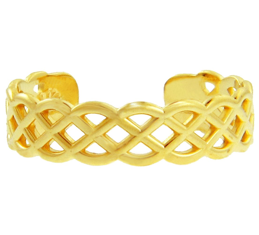 10k Yellow Gold Trinity Knot Celtic Toe Ring by More Toe Rings (Image #3)