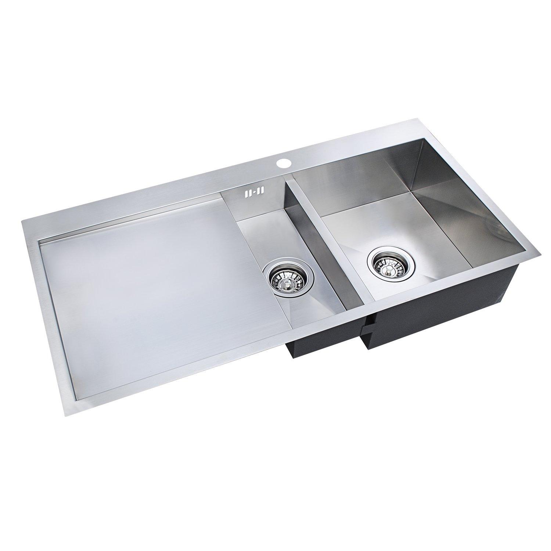 1,5 Schüssel Küche Spüle] hapilife handgefertigt Abtropfschale links ...