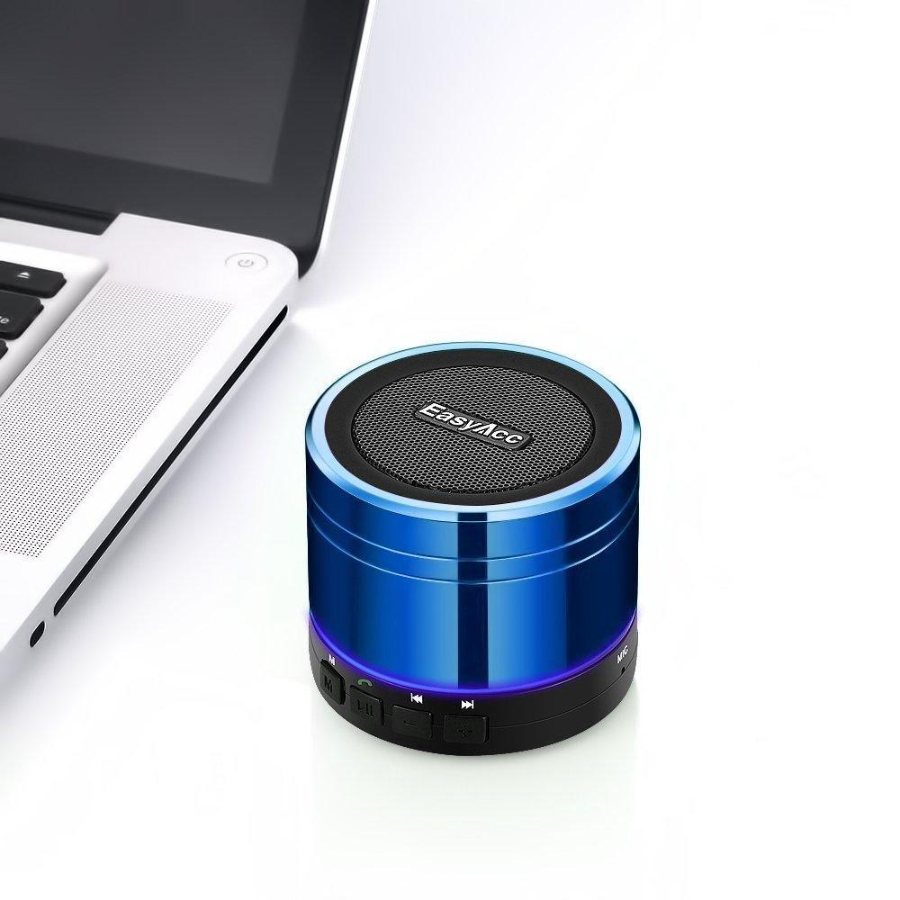 EasyAcc Mini Altoparlante Bluetooth Portatile Ricaricabile iPad Tablet PC Bluetooth Boxe Wireless Speaker per iPhone Supporto Micro SD Card di Gioco e la Funzione FM Nero