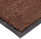 NoTrax T37 Fiber Atlantic Olefin Entrance Carpet Mat, for Wet and Dry Areas, 3' Width x 6' Length x 3/8'' Thickness, Dark Toast