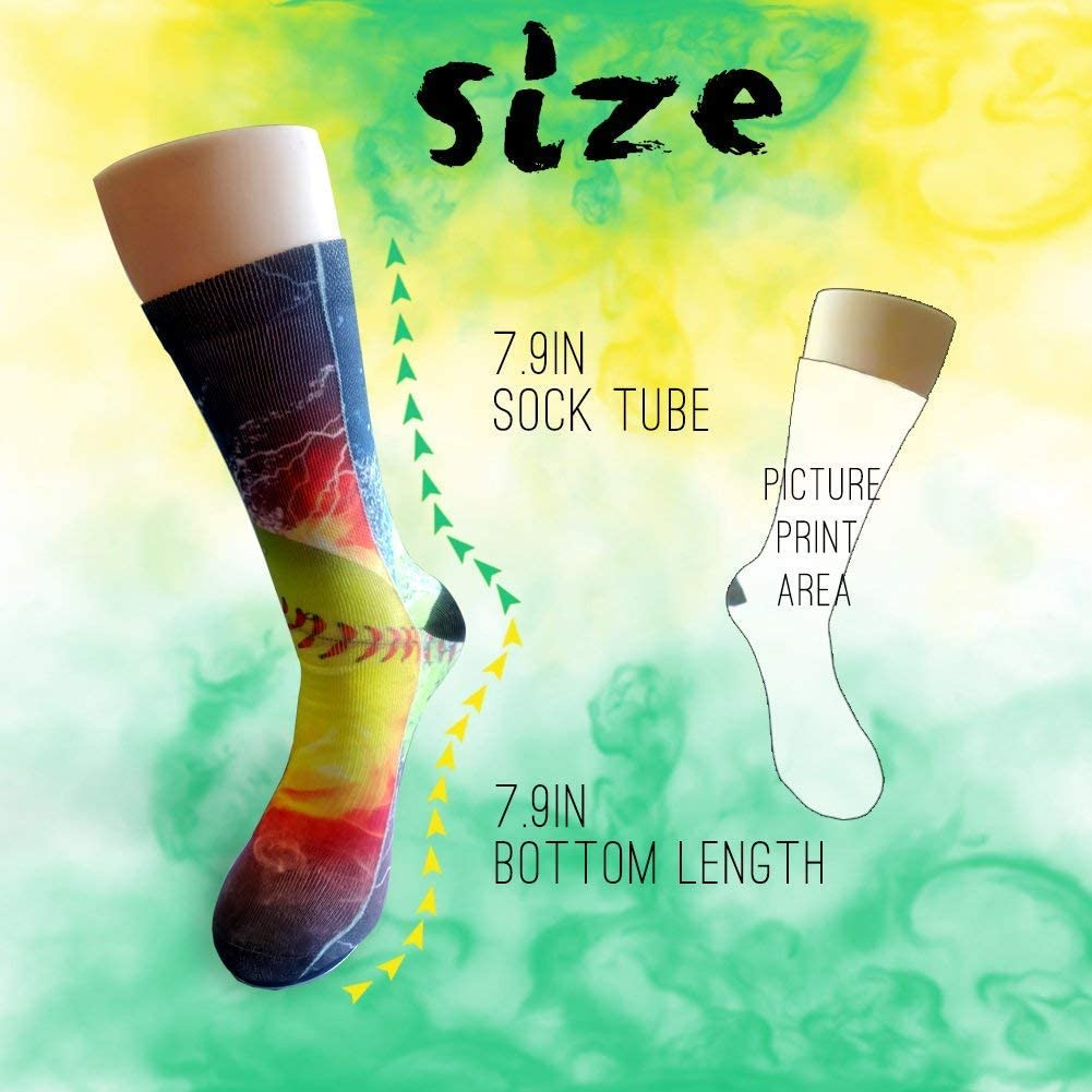 FUNINDIY Beautiful Seaside Scenery Athletic Tube Socks Women Men High Socks Crazy Socks