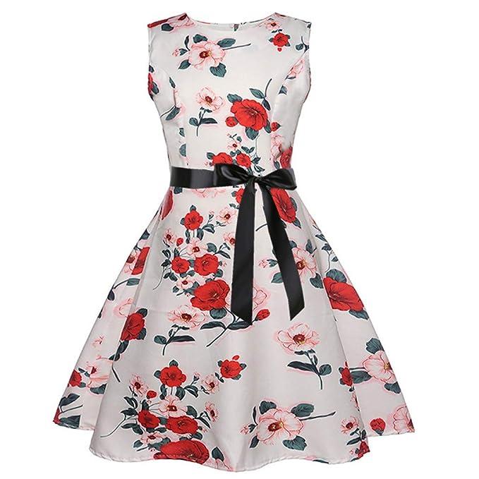 Vestido de Fiesta Vintage Floral para niñas cumpleaños ...