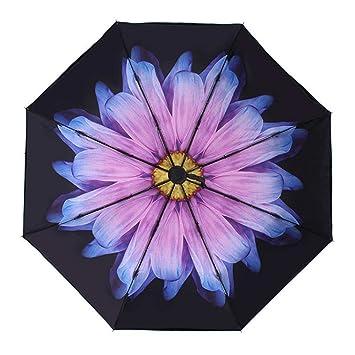Paraguas plegable Paraguas plegable- Secador automático resistente al viento y soleado día lluvioso de tela