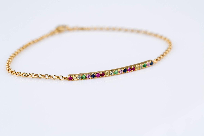 Rainbow Bar Bracelet