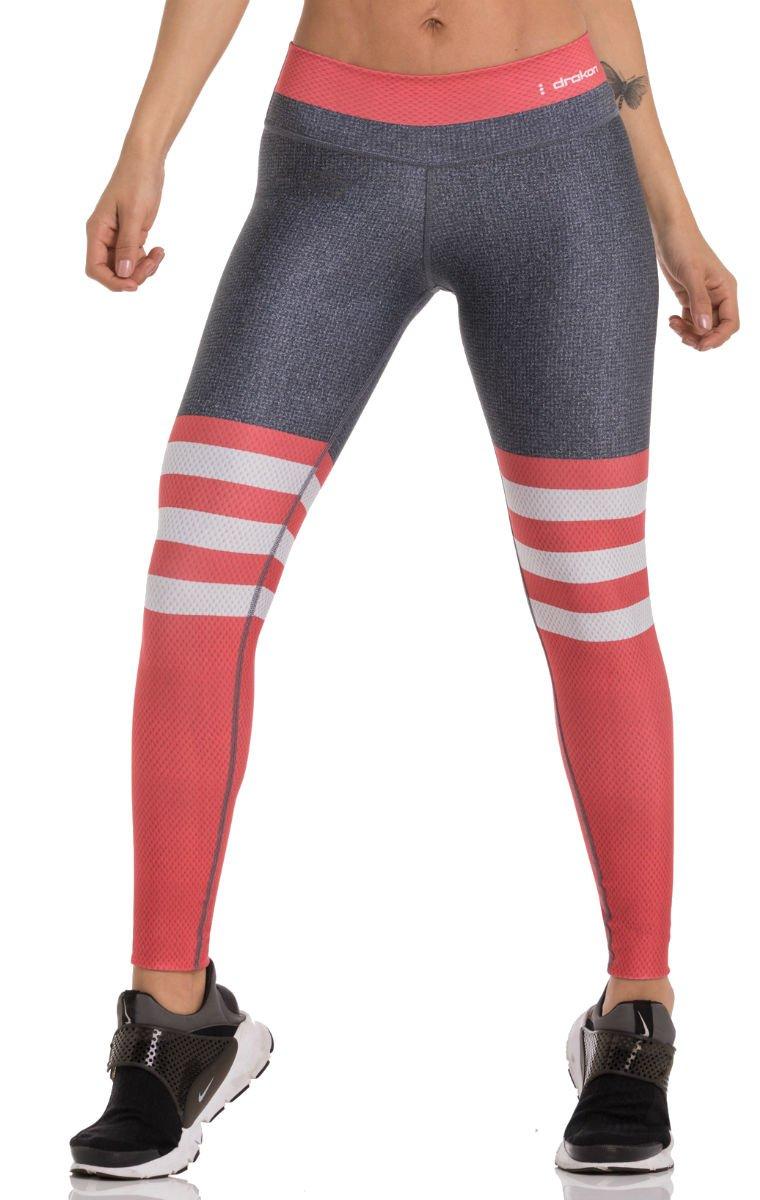 Drakon Many Styles of Crossfit Leggings Women Colombian Yoga Pants Compression Tights (Salmon)