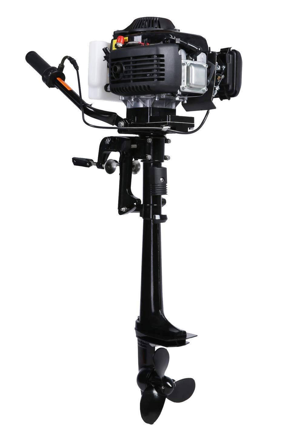 LEADALLWAY 4HP Outboard Motor Four Stroke Air-Cooled Boat Engine for Inflatable Small Fishing Boat 4T 4.0+ by LEADALLWAY