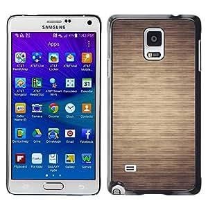 Paccase / SLIM PC / Aliminium Casa Carcasa Funda Case Cover para - Pattern Beige Minimalist Horizontal - Samsung Galaxy Note 4 SM-N910F SM-N910K SM-N910C SM-N910W8 SM-N910U SM-N910