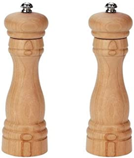 product image for Fletchers' Mill Federal Salt & Pepper Mill, Cherry - 6 Inch, Adjustable Coarseness Fine to Coarse, MADE IN U.S.A.
