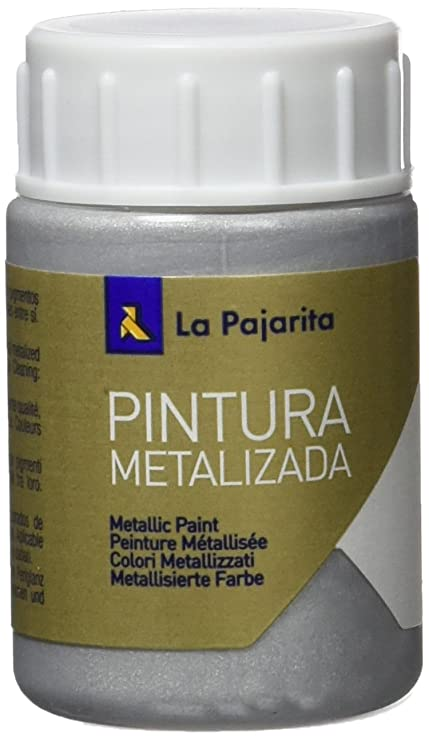 La Pajarita ME-1 - Pintura Metalizada Pajarita 35ml Plata: Amazon ...