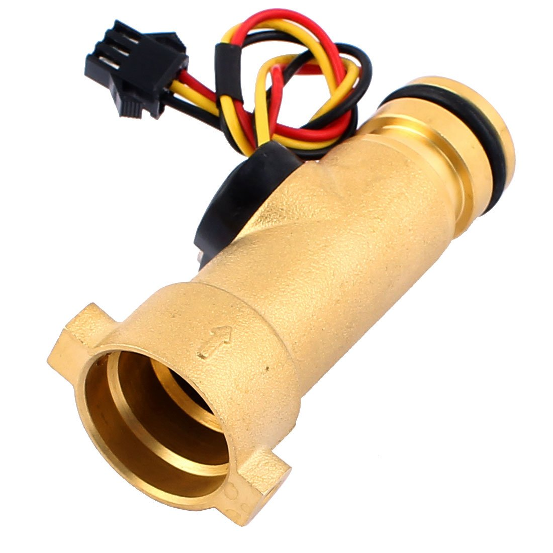 sourcing map 22mm x 20mm Hall Effect Liquid Water Flow Sensor Flowmeter Fluid Meter 1-30L/min
