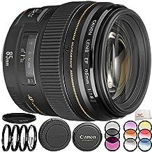Canon EF 85mm f/1.8 USM Lens 8PC Filter Kit. Includes Canon EF 85mm f/1.8 USM Lens + 3PC Filter Kit (UV-CPL-FLD) + 4PC Macro Filter Set (+1,+2,+4,+10) + 6PC Graduated Filter Kit + More - International Version (No Warranty)