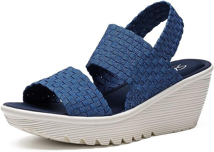 Skechers Cali Women's Parallel Midsummer's Weave Platform Sandal