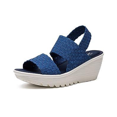 e161828f771a Skechers Women s Parallel Midsummers Weave Wedge Sandal