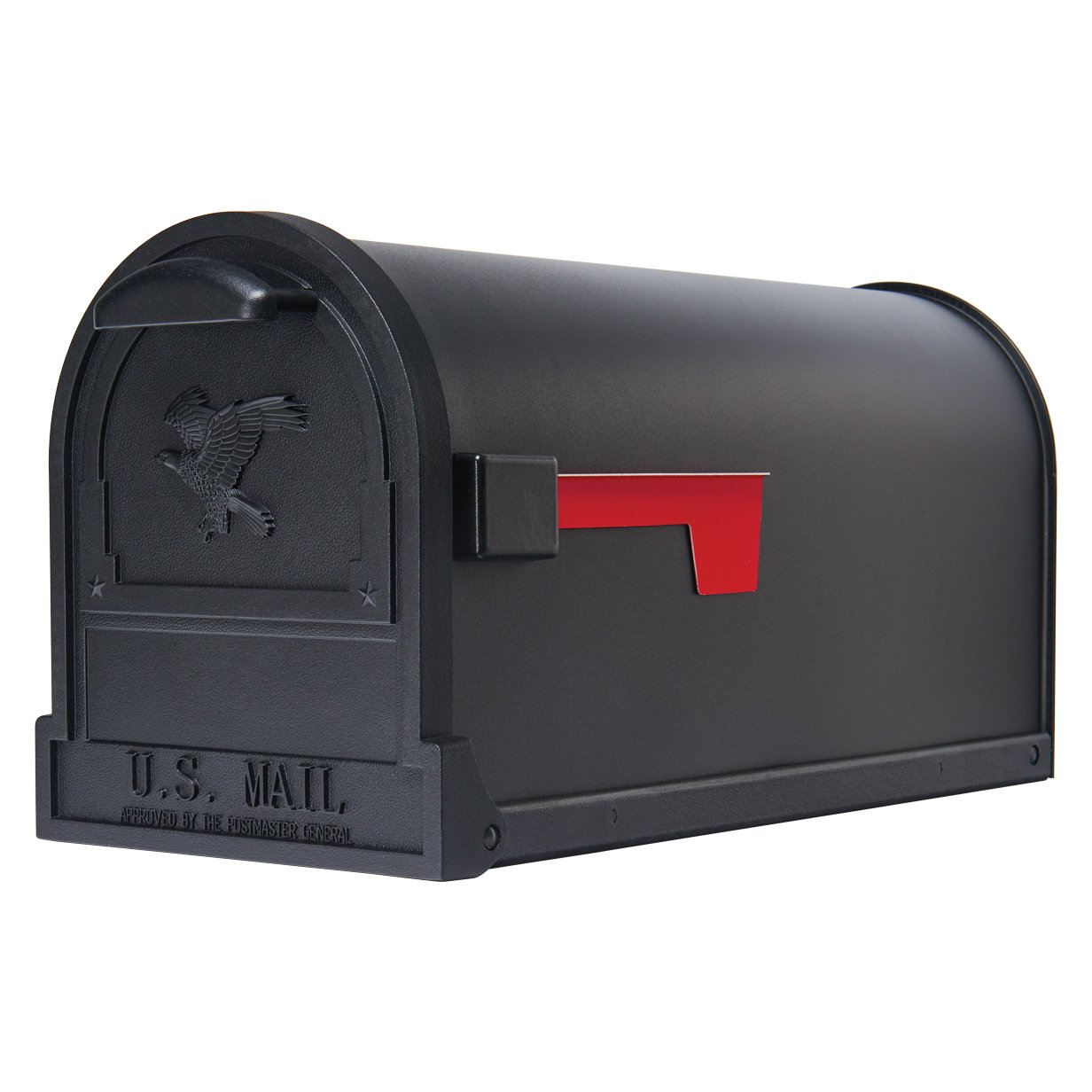 Gibraltar Mailboxes Arlington Large Capacity Galvanized Steel Textured Black, Post-Mount Mailbox, AR15B000