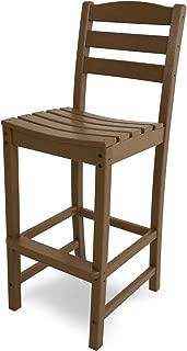 product image for POLYWOOD TD102TE La Casa Café Bar Side Chair, Teak