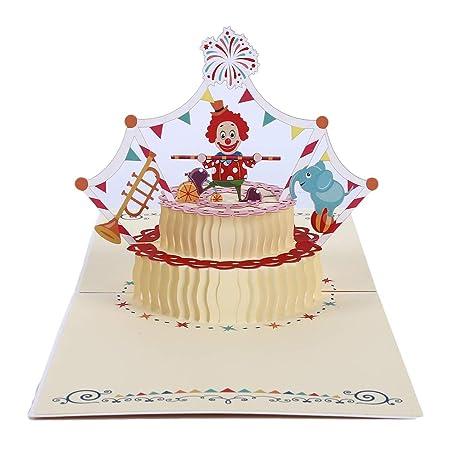 Yinew - Tarjeta de felicitación 3D, diseño de Tarta de ...