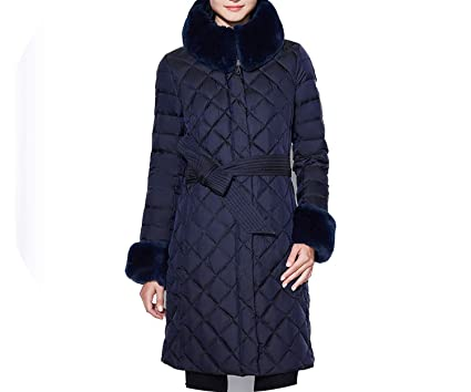 Jacket Women Camperas Mujer Abrigo Coat Women Park Winter Thick Section,Blue,XL,