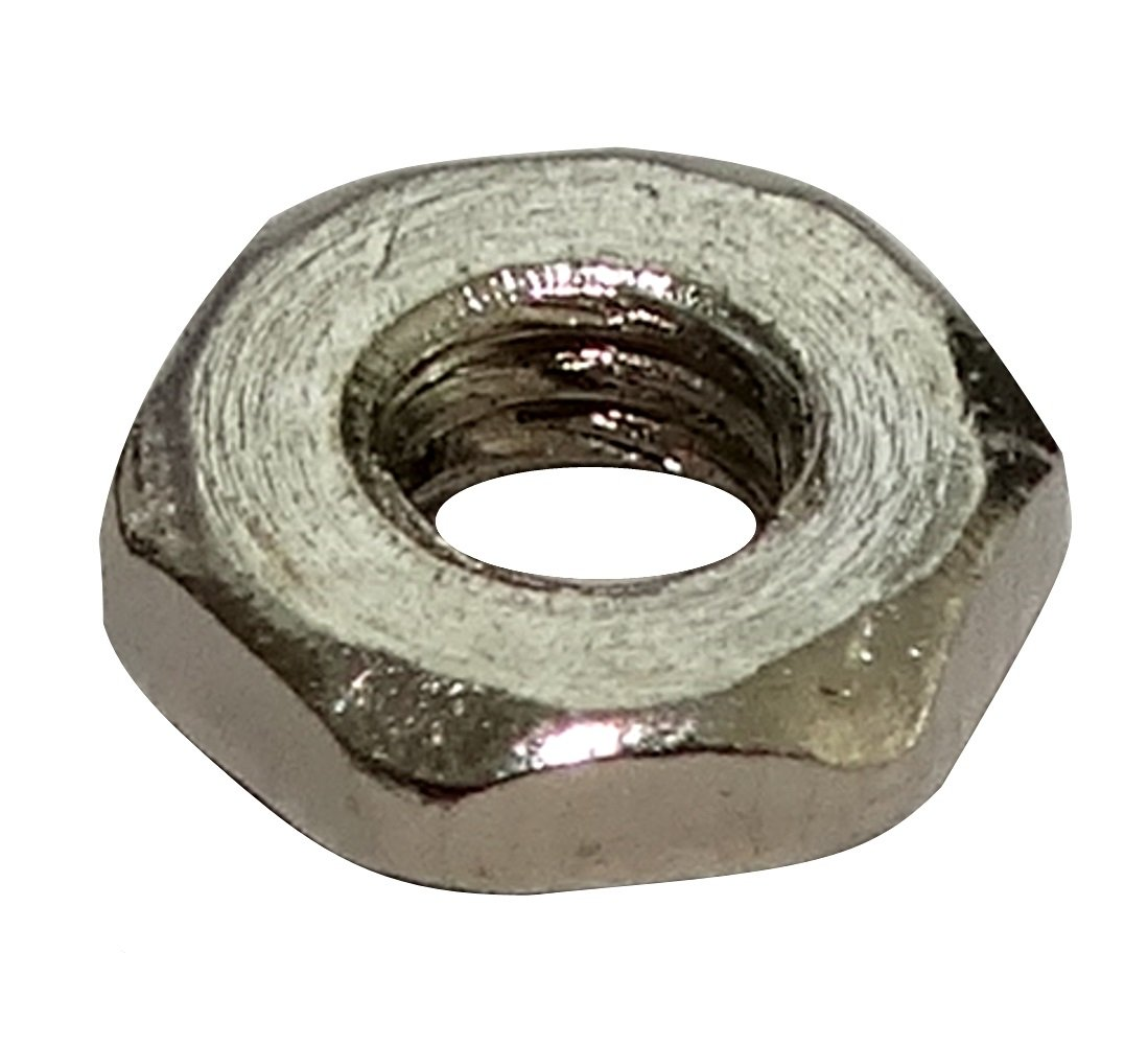 100x /écrou h/éxagonal M2 4mm H1.2mm DIN439B laiton nickel/é C19210 Aerzetix