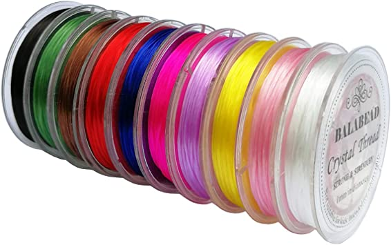 Mixed Pack of Assorted Clear Elastic Stretch Beading Thread Wire  4 Roll Special