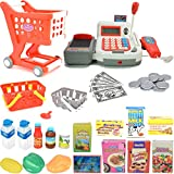 large calculator cash register - Toy Cash Register, Seprovider Pretend Play Calculator Cash Register W/ Shopping Cart Toy, Play Food, Scanner, Microphone, Play Money for Kids