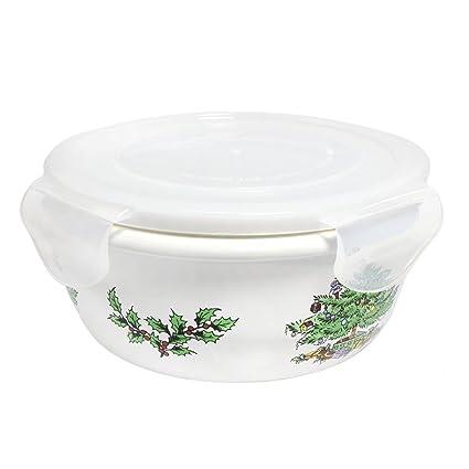 Spode Christmas Tree 6 5 Round Storage Jar Locking Lid