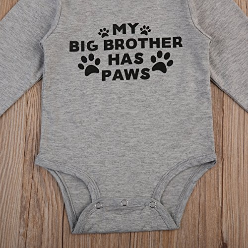 Newborn Baby Boys ''It's A Boy'' Letters Print Long Sleeve Romper Jumpsuit Outfits Pajamas