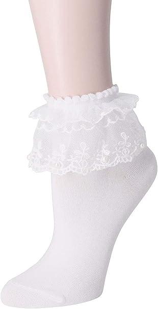 Ruffle socks Fashion Lace Ruffles Soft Cotton Women Socks Top Quality Solid Color Heart Cute Socks Sweet Princess 12