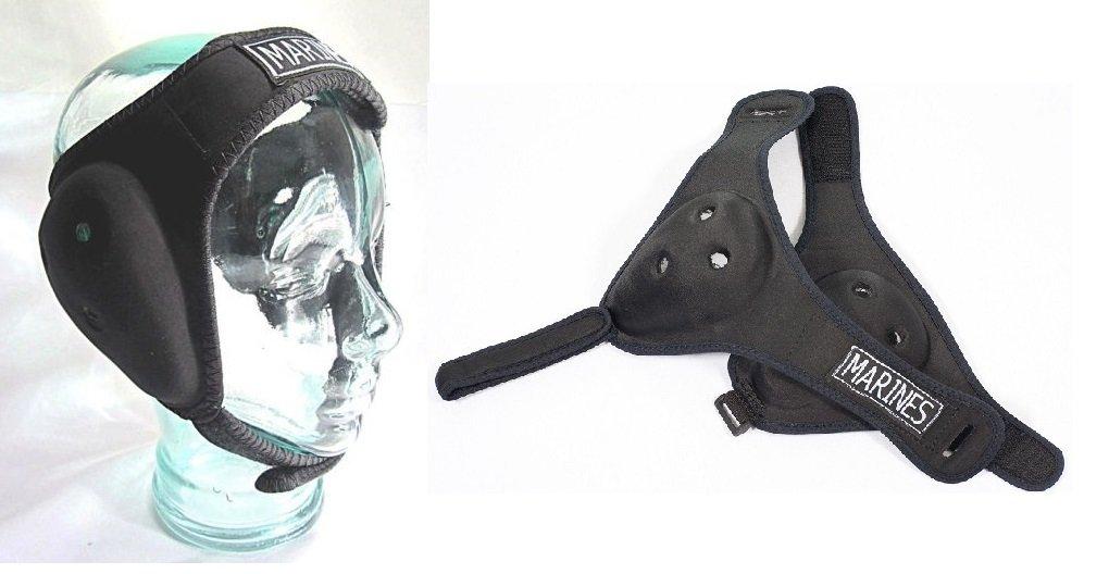 NWS SHIHAN Protector orejas lucha bjj jiu jitsu,MMA, protección cabeza orejas con correas ajustables, boxeo UFC rugby engranaje talla senior: Amazon.es: ...