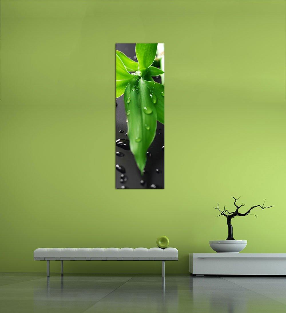 Wellness wallpaper hochkant  Bilderdepot24 Kunstdruck - Frischer Bambus - Bild auf Leinwand ...