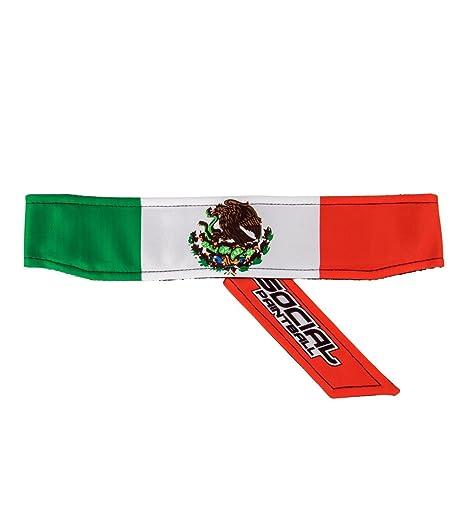Amazon.com : Social Paintball Long Tie Headband, Mexico Flag ...