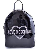 BORSA DONNA LOVE MOSCHINO ZAINO NERO METALLIZZATO BS17MO95