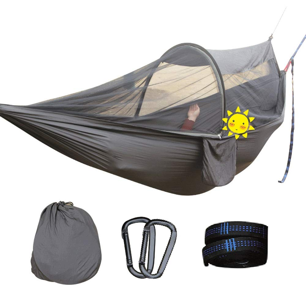 SXHHH Tent with Mosquito Net for Hiking Travel, Hammock with Mosquito Net, 1/2 Person Outdoor Travel Hammock Lightweight Nylon Portable Hammock for Camping , by SXHHH