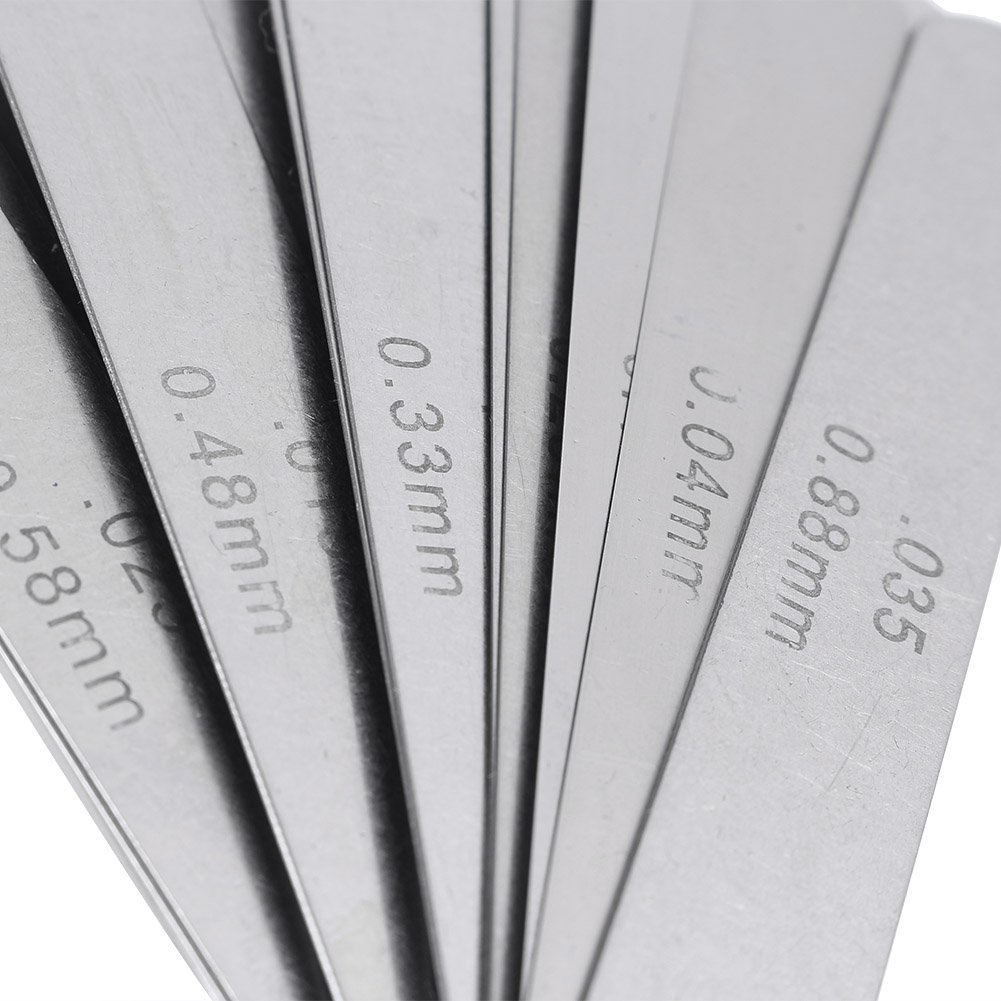 GZYF Metric Feeler Gauge 32 Blade Steel Dual Marked Metric Gap Measuring Tool