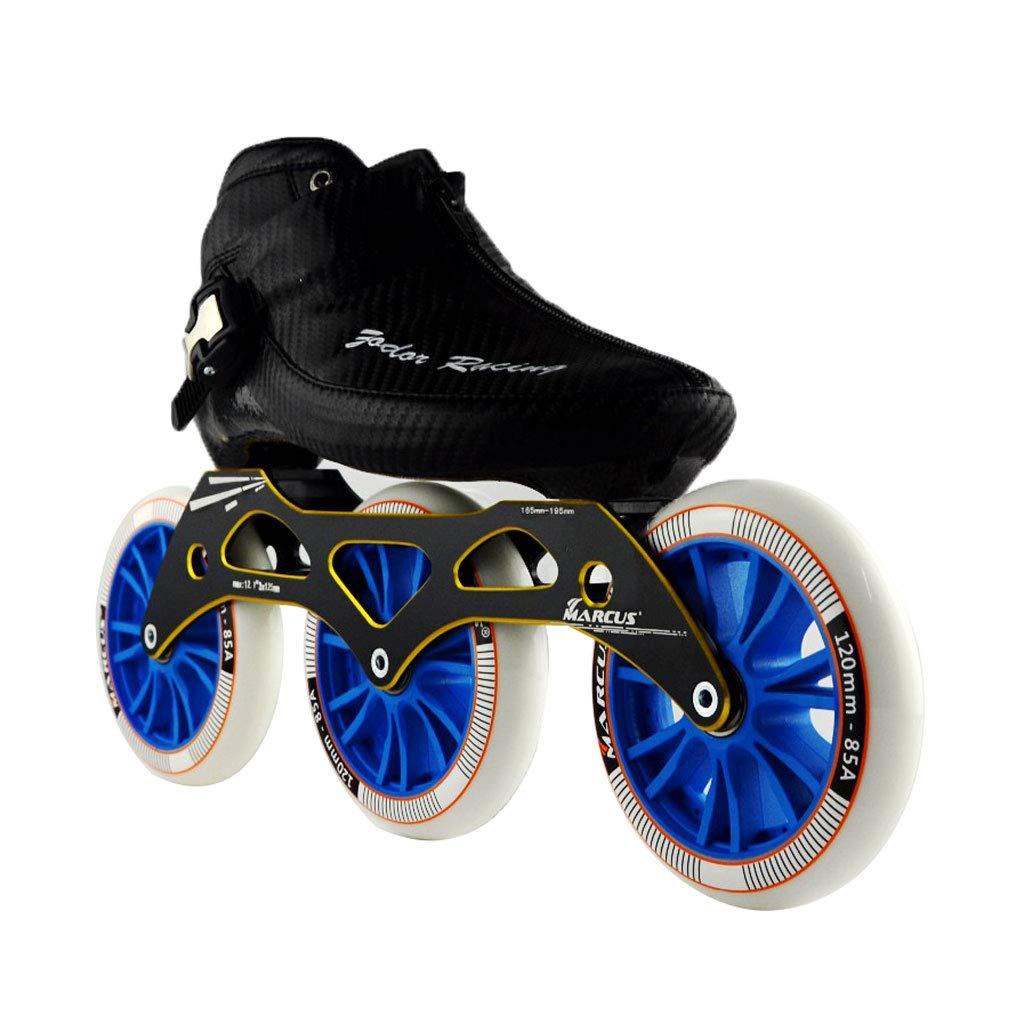 ailj スピードスケート靴3 * 120MM調整可能なインラインスケート、ストレートスケート靴(3色) (色 : 黒, サイズ さいず : EU 45/US 12/UK 11/JP 27.5cm) B07HVR55MD EU 43/US 10/UK 9/JP 26.5cm|黒 黒 EU 43/US 10/UK 9/JP 26.5cm