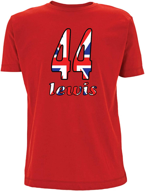Time 4 Tee Lewis 44 F1 - Camiseta con número Hamilton Union Jack Formula 1 Racing UK Race: Amazon.es: Ropa y accesorios